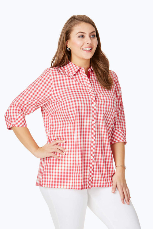 Morgan Plus Non-Iron Sweet Gingham Shirt