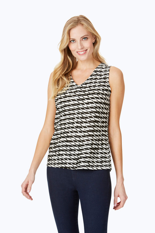 Delphine Textured Stripe Tank Top