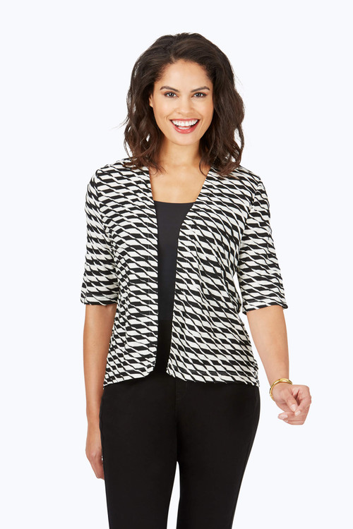 Dane Textured Stripe Cardigan