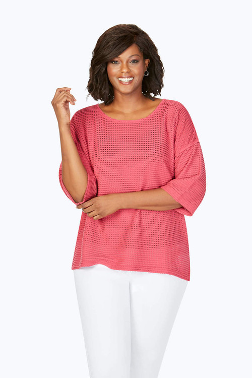 Kim Plus Open Texture Sweater