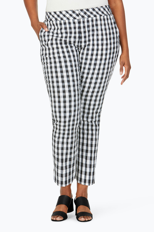The Weekender Plus Gingham Pant