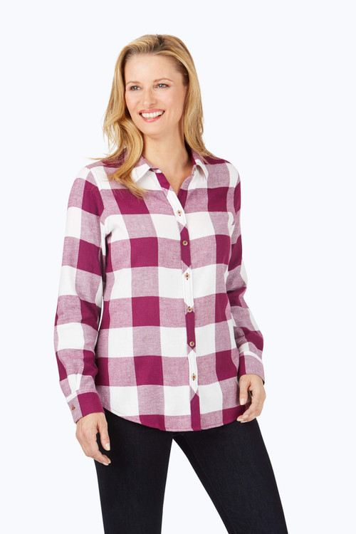 Rhea Brushed Buffalo Plaid Shirt