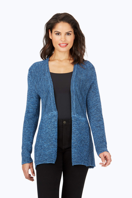 Arizona Ottoman Rib Stitch Cardigan