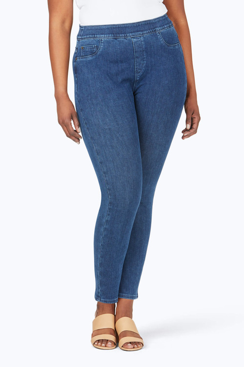 The Uptown Plus Slim Leg Pull-On Stretch Jeans