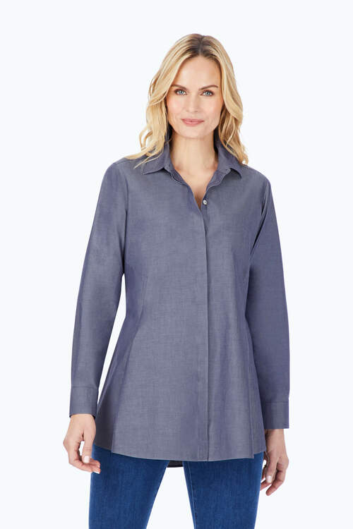 Cici Essential Pinpoint Non-Iron Tunic