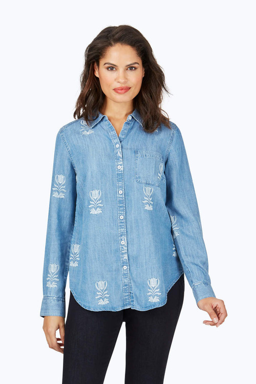 Haven Embroidered Tencel® Shirt