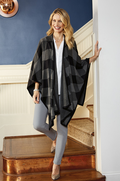 The Walker Diamond Plaid Ruana