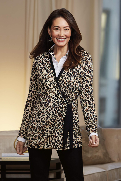 The London Leopard Wrap Cardigan