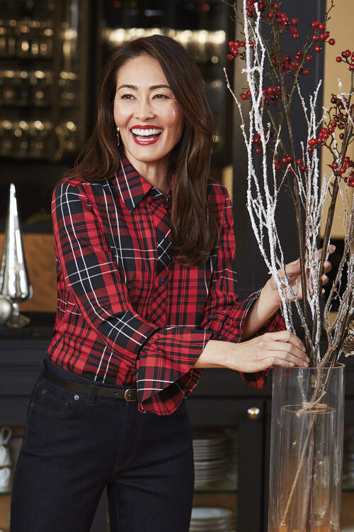 Brinkley Wrinkle-Free Matheson Tartan Shirt