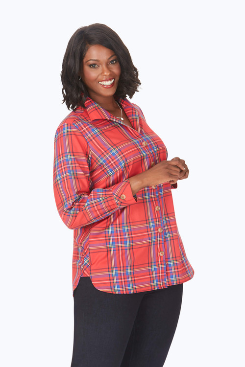 Pandora Plus Non-Iron Emerson Tartan Tunic