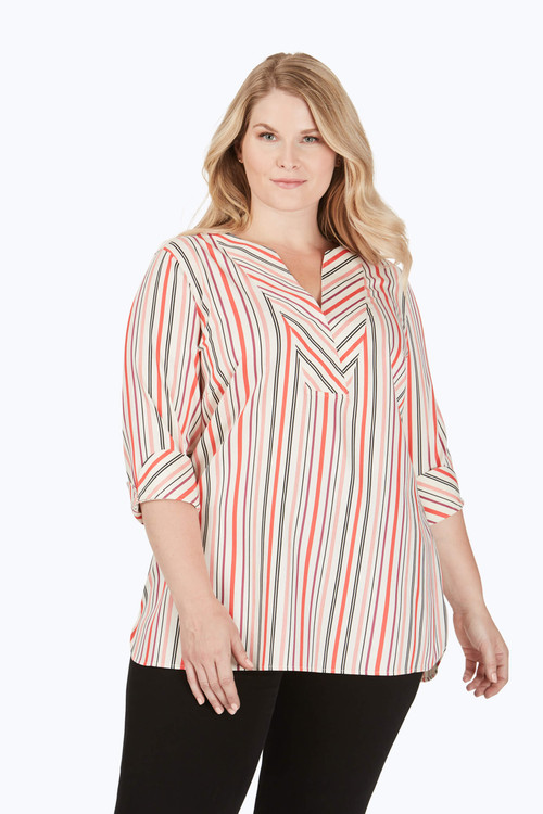 Vaughn Plus Stretch Non-Iron Desert Stripe Shirt