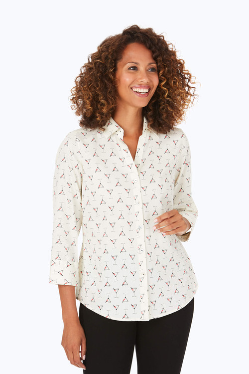 Mary Petite Wrinkle-Free Martini Time Shirt
