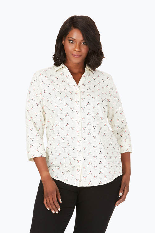 Mary Plus Wrinkle-Free Martini Time Shirt