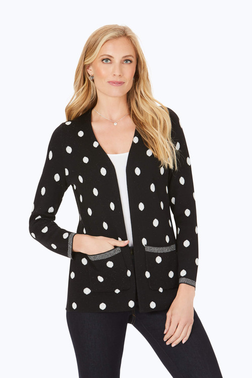Brighton Jacquard Dot Cardigan