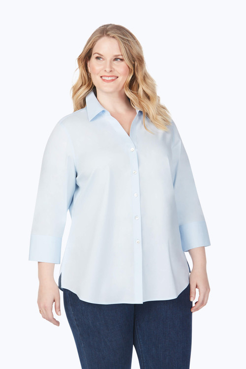 Mary Plus Stretch Non-Iron Shirt In Fall Colors