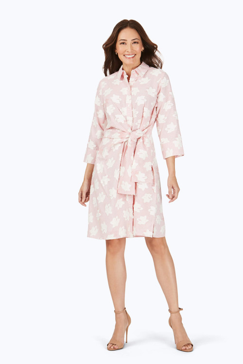The Parisian Clipped Floral Dress