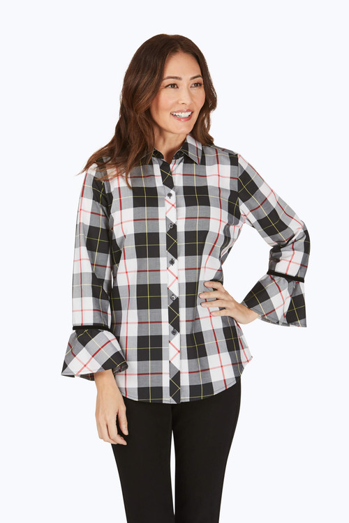 Brinkley Petite Wrinkle-Free Sinclair Tartan Shirt