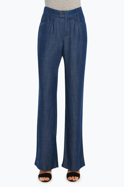 Solid Tencel® Wide Leg Trouser