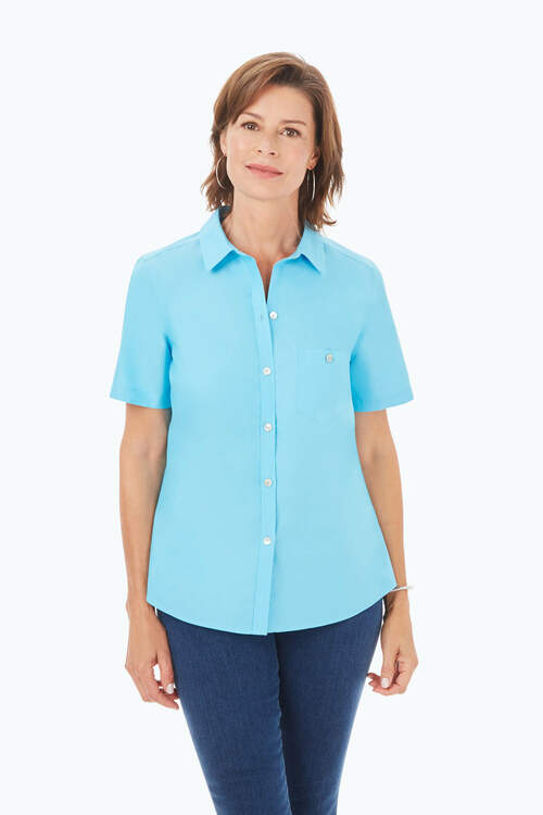 Hampton Essential Pinpoint Non-Iron Short Sleeve Shirt