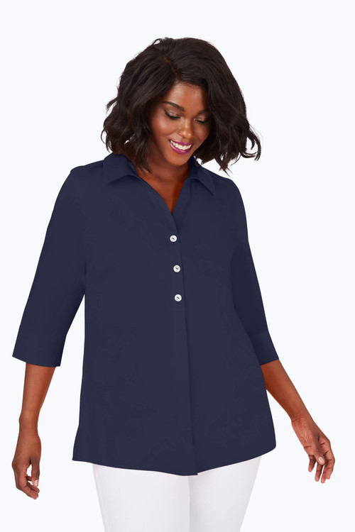 Pamela Plus Essential Stretch Non-Iron Tunic