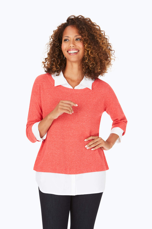 Miles Textured 2-Fer Sweater