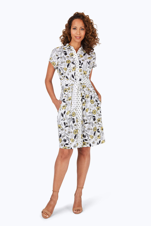 Vienna Wrinkle-Free Floral Toile Dress