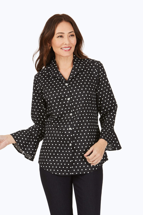 Birdie Wrinkle-Free Dot Shirt