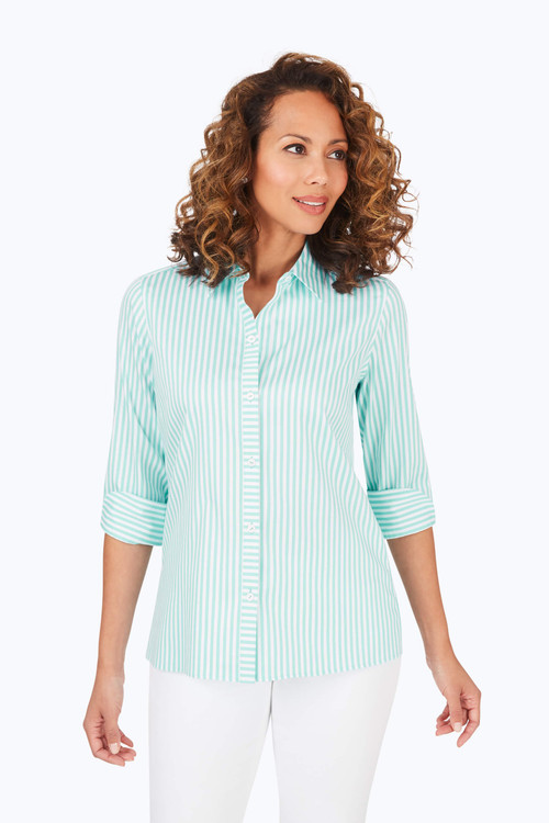 Morgan Stretch Non-Iron Day Stripe Shirt