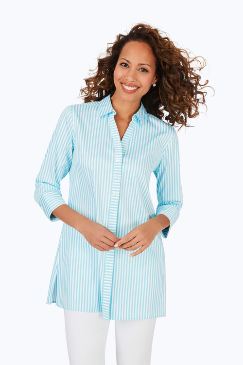 Pamela Stretch Non-Iron Day Stripe Tunic