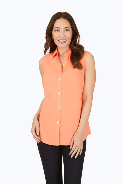 Paityn Stretch Non-Iron Sleeveless Shirt