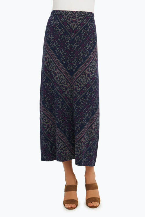 Diagonal Jacquard Skirt