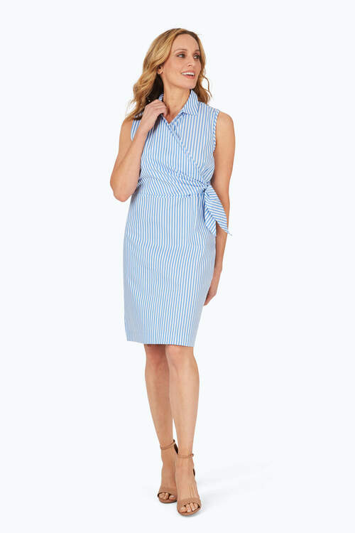 Capri Non-Iron Twill Stripe Dress