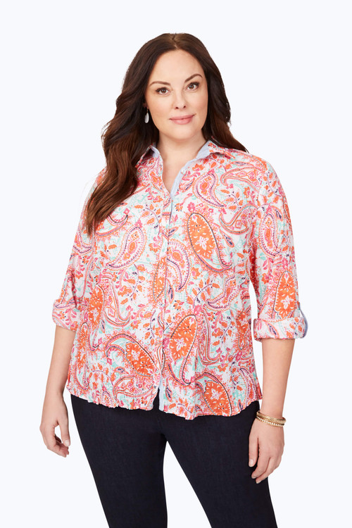 Zoey Plus Summer Paisley Shirt