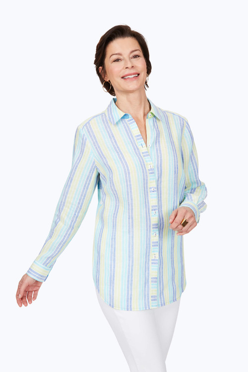 Havana Easy-Care Pattern Linen Tunic