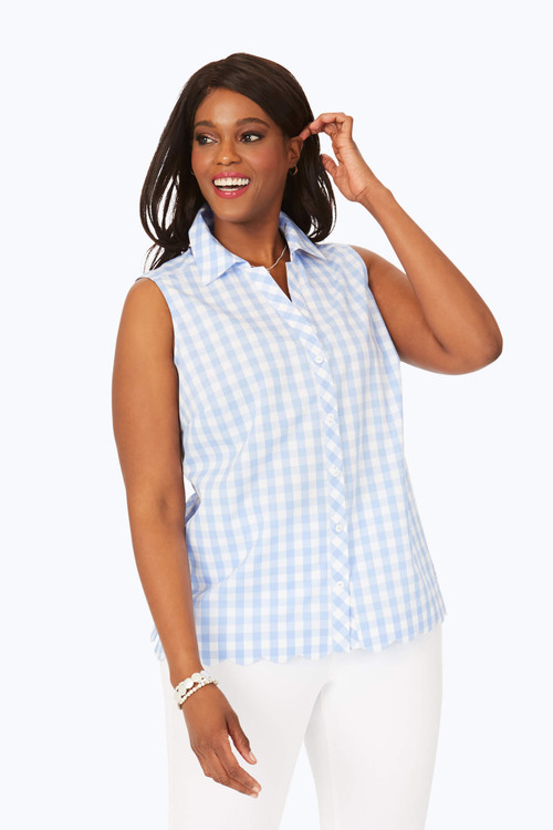 Lilith Plus Non-Iron Gingham Shirt