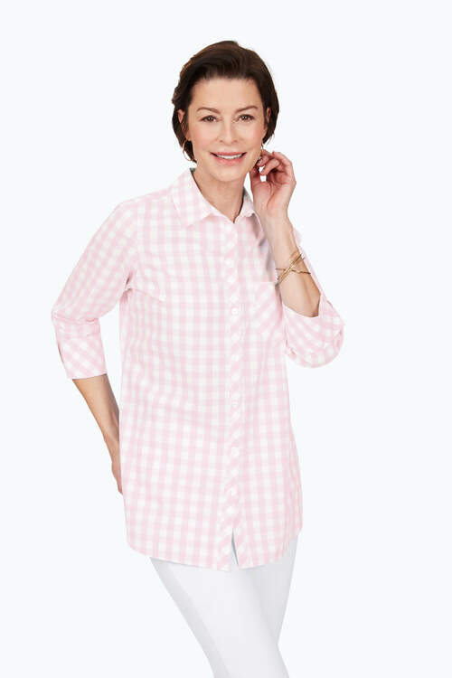 Germaine Non-Iron Gingham Shirt