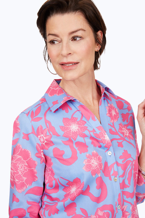 Mary Petite Non-Iron Paradise Floral Shirt