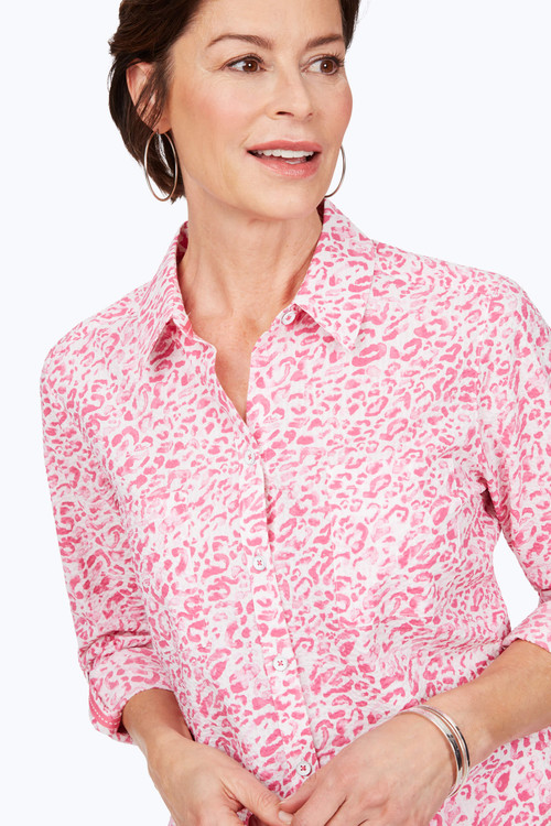 Zoey Easy-Care Leopard Shirt
