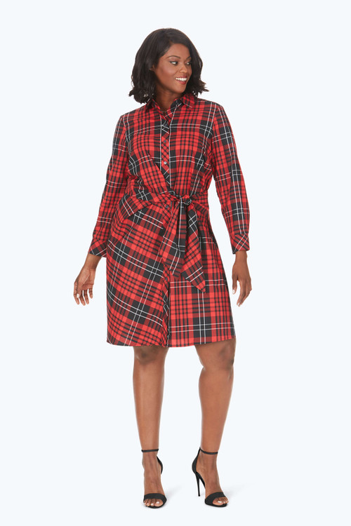 Parisian Plus Non-Iron Matheson Tartan Dress