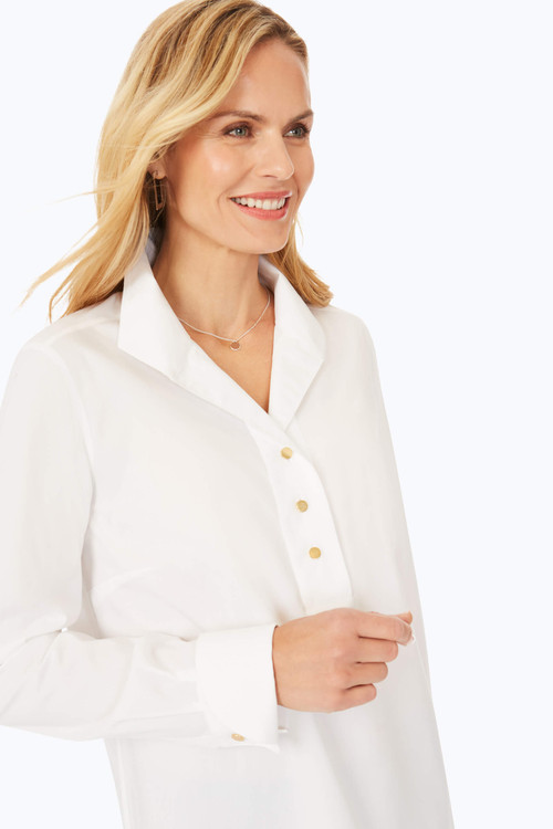 Stretch Non-Iron Popover Collared Shirt