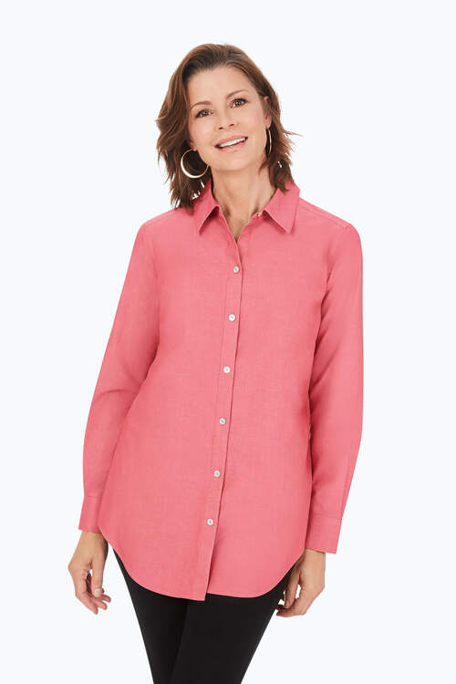 Point Collar Pinpoint Non-Iron Tunic