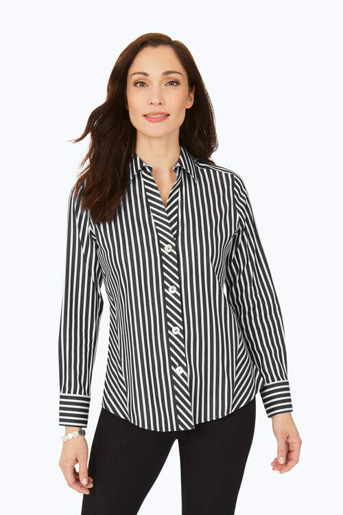 Paityn Stretch Non-Iron Striped Shirt