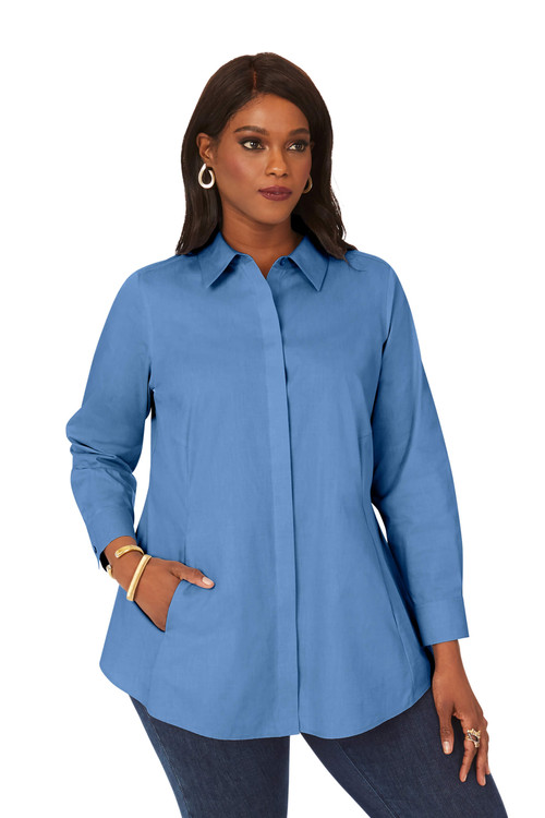 Cici Plus Pinpoint Non-Iron Tunic