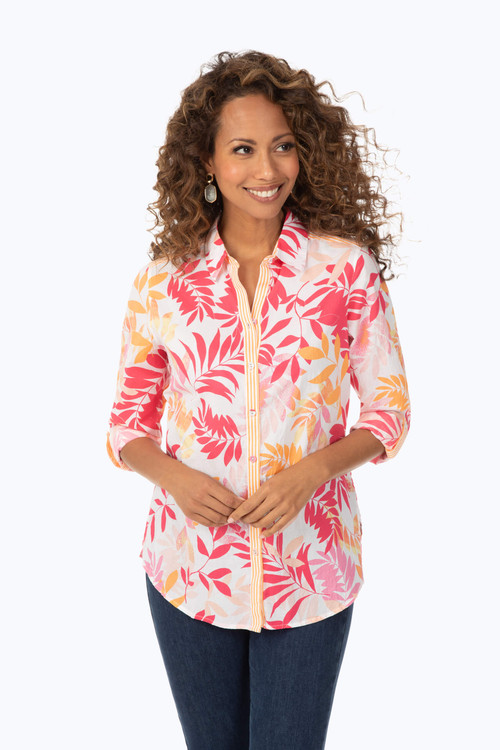 Zoey Tropical Leaves Shirt