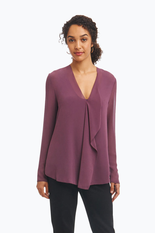 Ashleigh Top in Solid Chiffon
