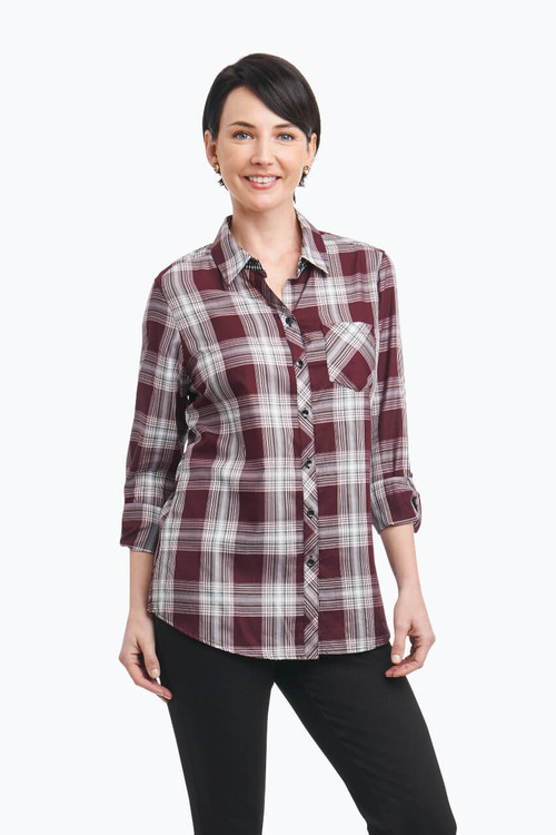 Addison Petite Shirt in Plaid