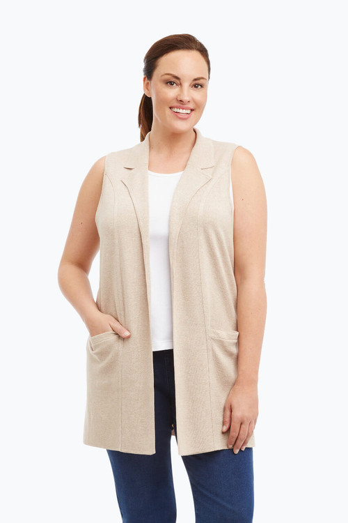 Jodi Plus Sleeveless Vest