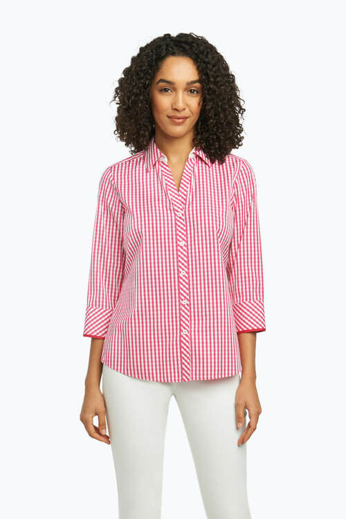Mary Non-Iron Shirt in Summer Gingham
