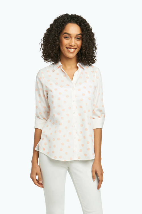 Mary Petite Non-Iron Shirt in Allover Seashell