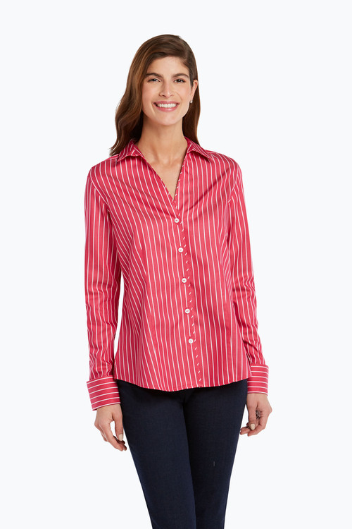 Lauren Non-Iron Stripe Sateen Shirt